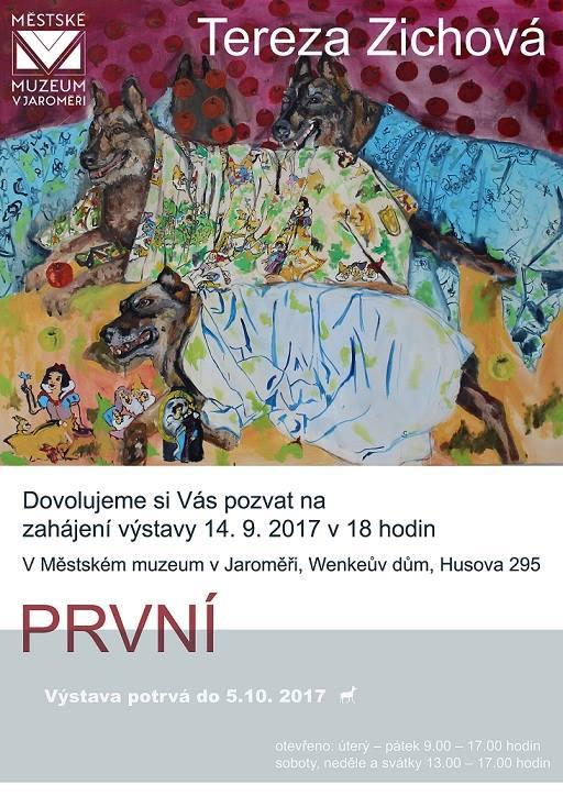 """Výstava """"První"""" Terezy Zichové 1"""