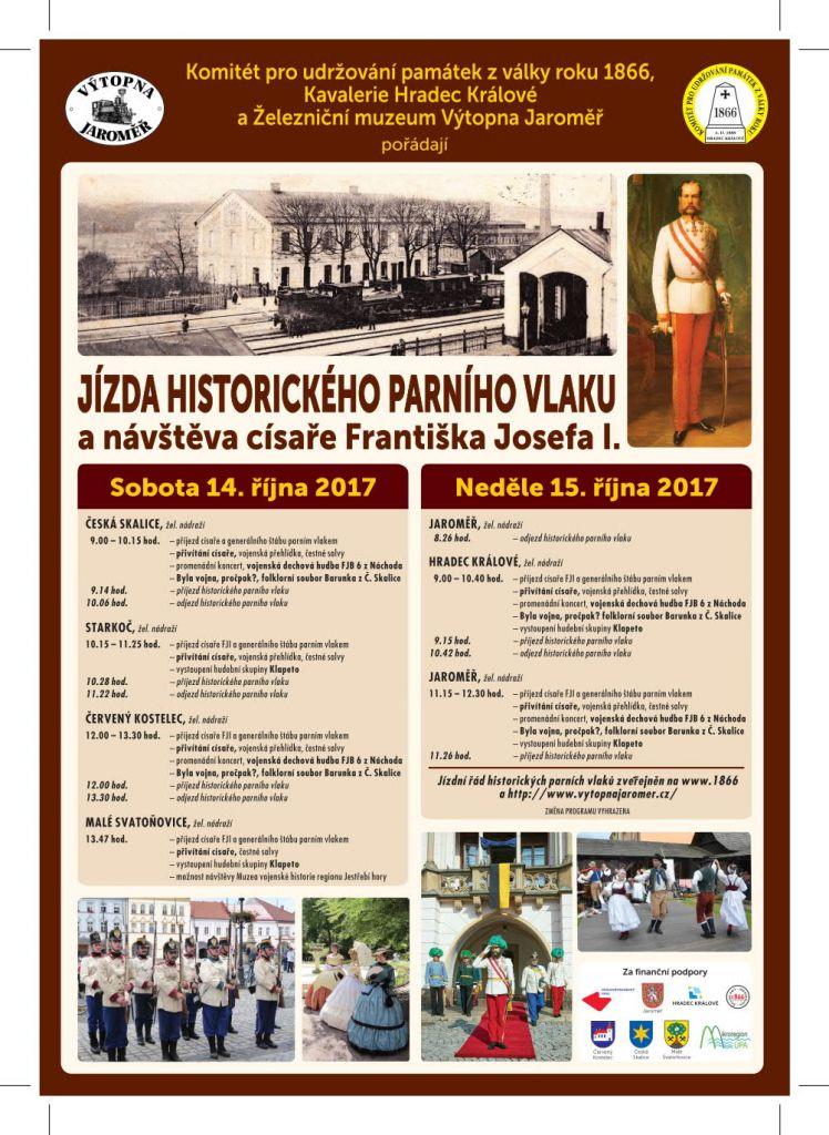 Jízda historického parního vlaku a návštěva císaře Františka Josefa I. 1